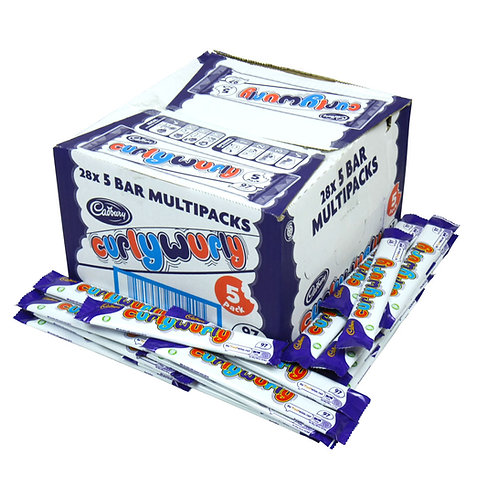 Cadbury Curlywurlys 28 x 5 Multipacks