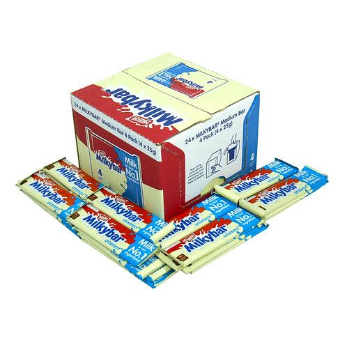 24 x Nestle Milkybar Medium Bar 4 Pack (4 x 25g)