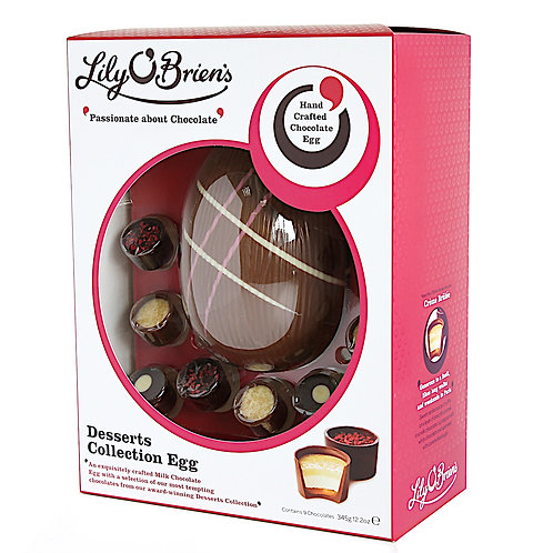 Lily O'Briens - Desserts Chocolate Easter Egg with 9 Chocolates - 345g