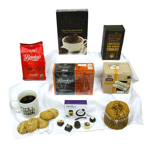 Coffee Time in Wicker Basket
