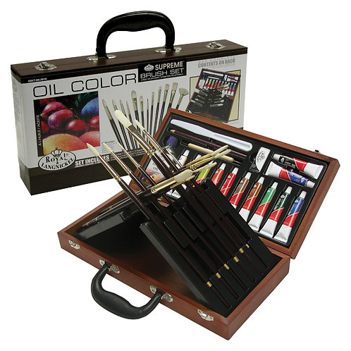 Fusion Oil Painting Art Set In Wooden Box