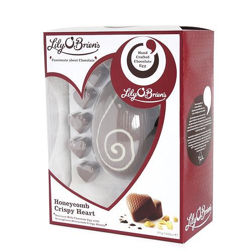 Lily O'Briens Honeycomb Crispy Heart Milk Chocolate Boxed Egg, 370g