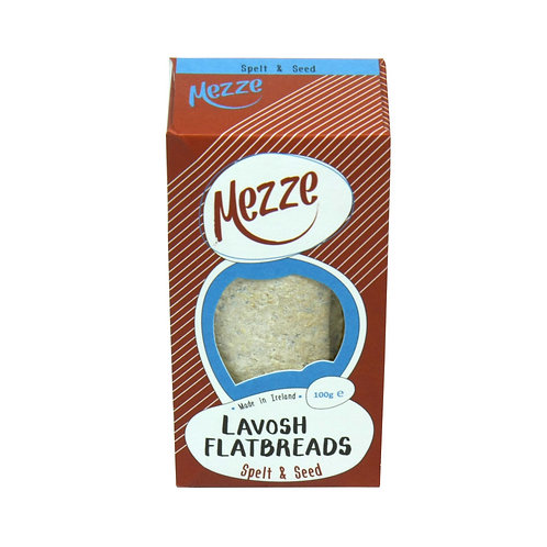 12 x Mezze Lavosh Flatbreads - Spelt and Seed - 100g
