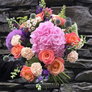 Miss Piggy Roses with lilac accents