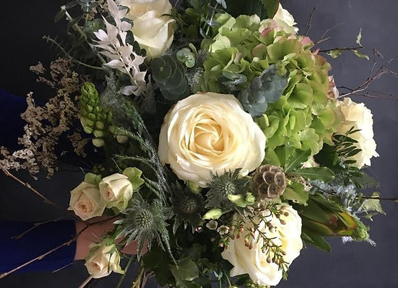 Totally White Christmas Bouquet