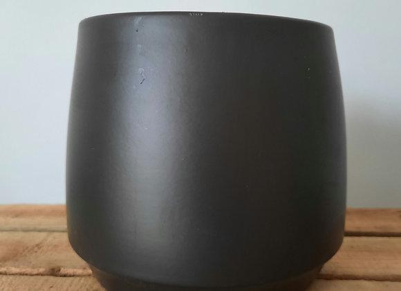 Matt Black ceramic pot