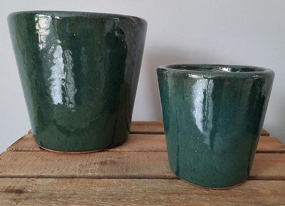 Seagreen Glazed Pot