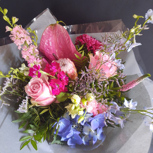 Pink and lilac blooms