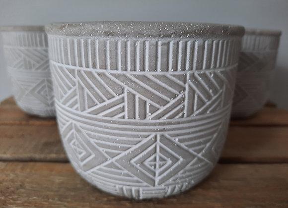 Patterned Ceramic Pot
