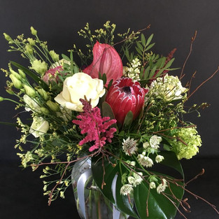 Deluxe Bouquet in a recycled glass vase
