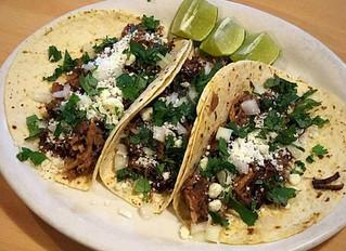 Pork Carnitas Tacos w/Onions, Cilantro & Cojito Cheese