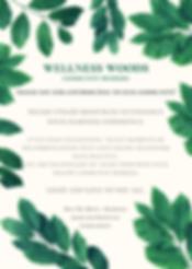 Green Script Leaves Rustic Floral Weddin