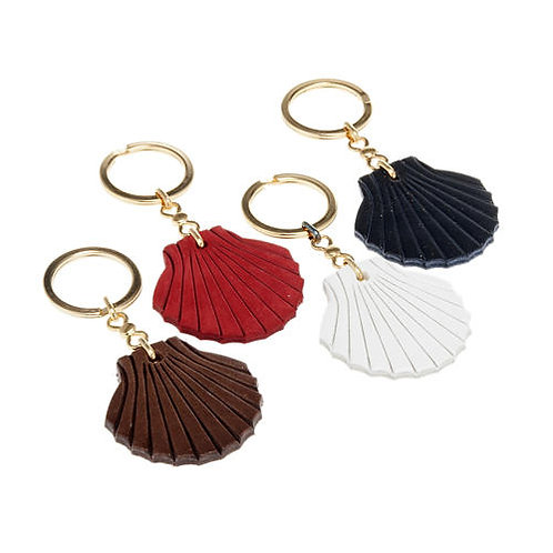 Leather key ring shell