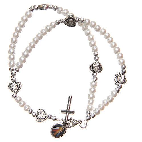 Bracelet with Heart & Cross - Our Lady of Medjugorje