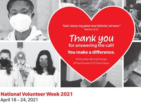 National Volunteer Week April 18th - 24th 2021