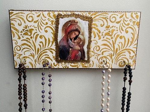 Wall-Icon Rosary Holder