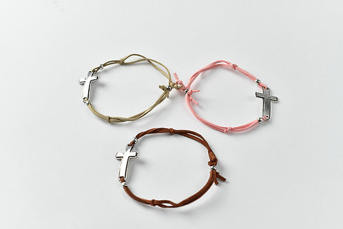 Cross Suede Rope Bracellets