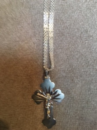 Silver Necklace with silver Cross