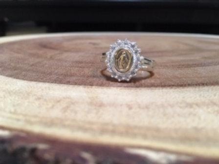 Ladies Miraculous Medal Ring