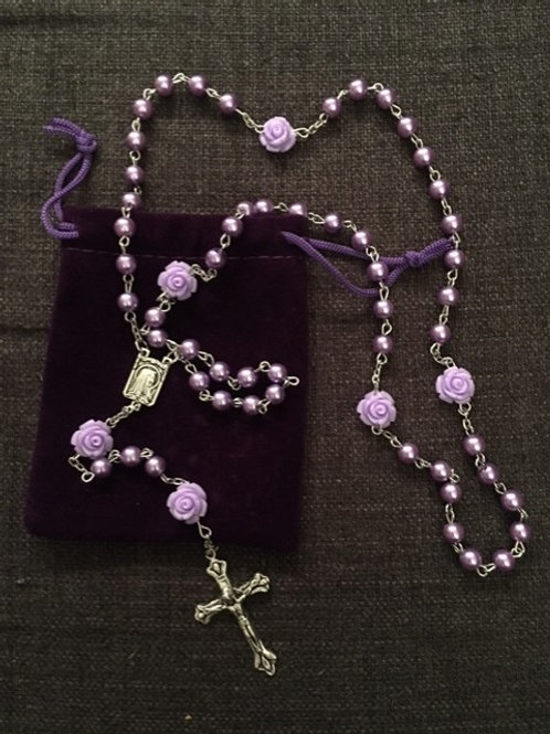 Light Purple, Peral & Roses Rosary