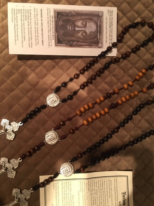 Wood/Rope Chaplet of the Holy Face