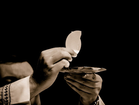 Saints often made an act of spiritual communion when they couldn't receive the Eucharist at Mass.