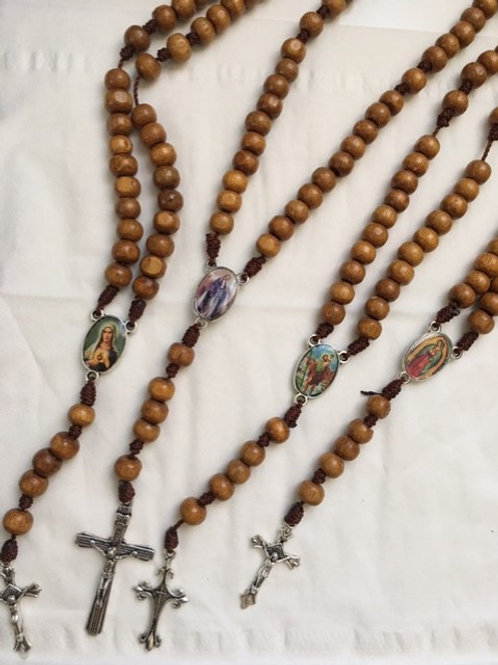 Holy Rosaries in Wood