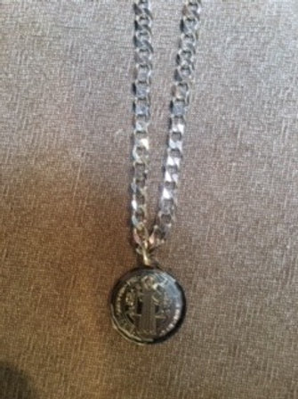 Silver Necklace /St Benedict Medal