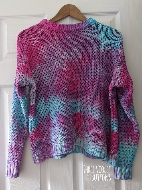 'Hydrangea' Hand dyed cotton sweater :: size 8-12