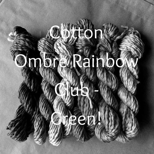 Cotton Ombre Rainbow Club 2020 - GREEN!