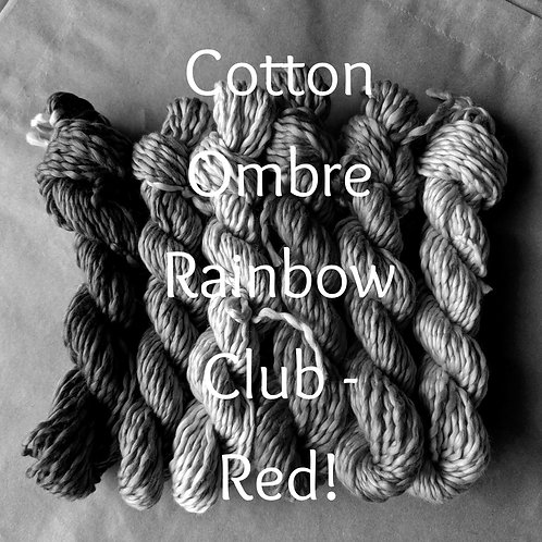 Cotton Ombre Rainbow Club - Red!