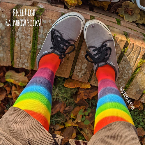 Rainbow Knee High Socks!