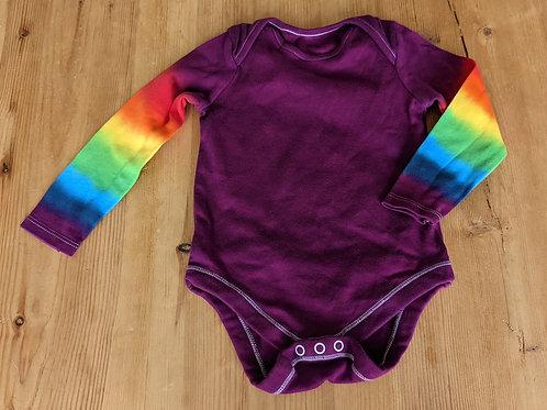 12-18 month rainbow sleeve purple vest