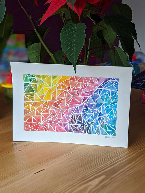Triangles of life :: original watercolour painting