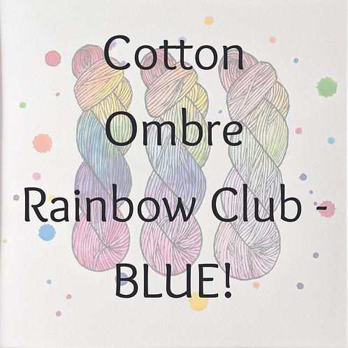 Cotton Ombre Rainbow Club 2020 - BLUE!