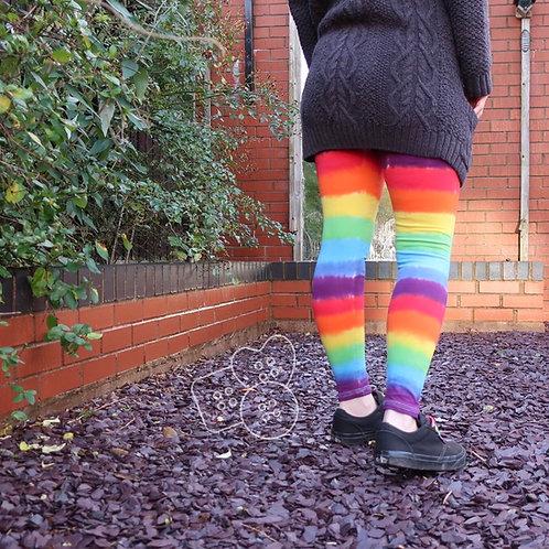 Womens rainbow leggings!