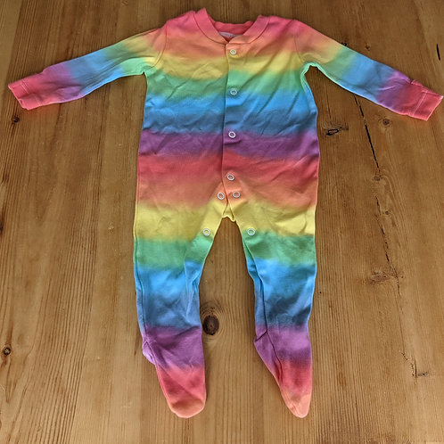 3-6 month rainbow sleep suit