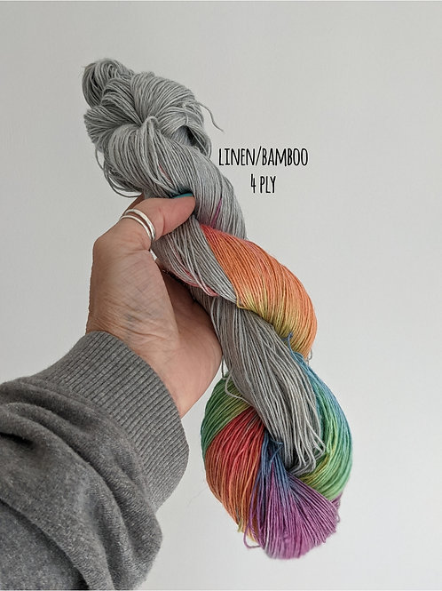 Look for me in rainbows :: linen/bamboo 4 ply