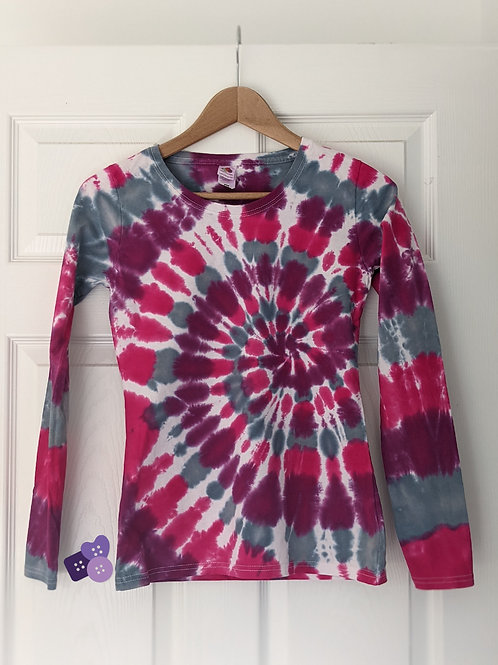 Hand dyed long sleeve top :: size XS