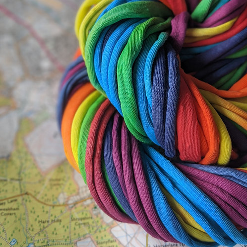 Rainbow Seven :: t shirt yarn!