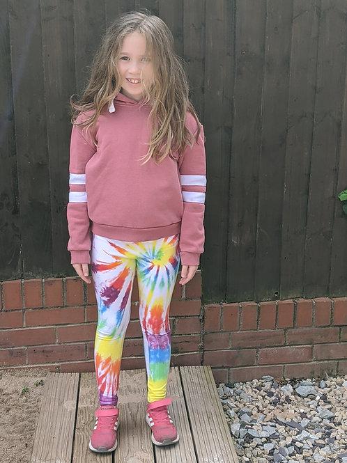 Childrens twisty rainbow leggings!