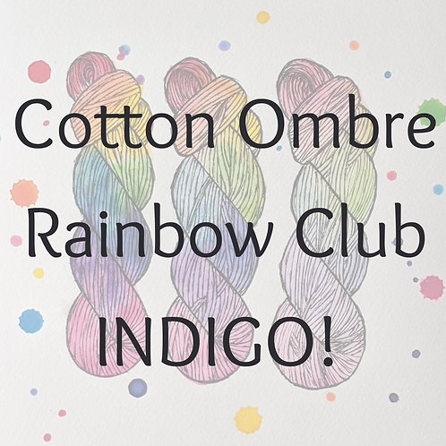 Cotton Ombre Rainbow Club 2020 - INDIGO!