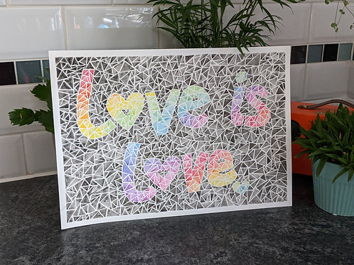 Love is love :: A3 original watercolour painting