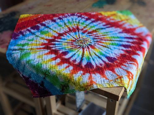 Twisty rainbow muslin square :: 70x70cm