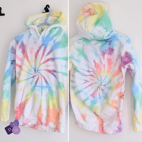 Childrens spiral rainbow hoodie!