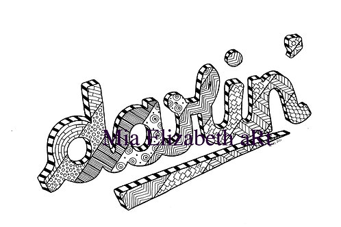'darlin'' :: print at home colouring-in page
