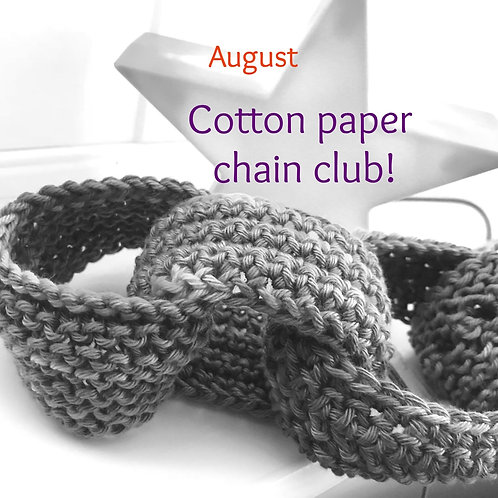 2020 Cotton Paper Chain Club - August!
