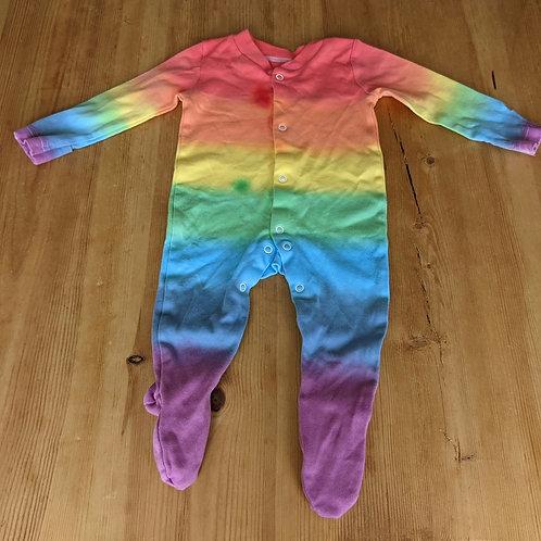 *seconds* 3-6 month rainbow sleep suit