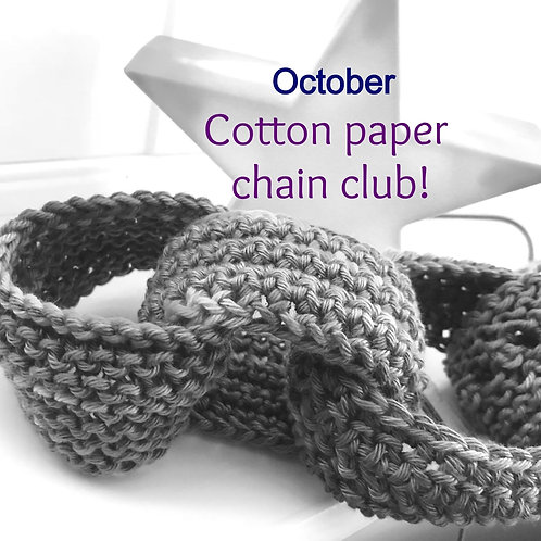2020 Cotton Paper Chain Club - October!