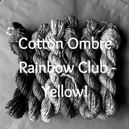 Cotton Ombre Rainbow Club - Yellow!